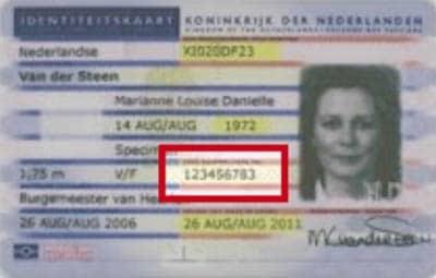 Identiteitskaart uitgegeven voor 2014